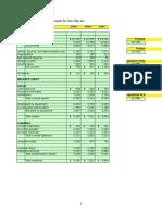 Tire City Spreadsheet Solution