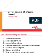 Secrets of Organic Growth Ssd 020909