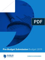 Dublin Chamber Pre-Budget Submission 2019