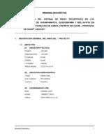 SISTEMA DE RIEGO TECNIFICADO EN LOS SECTORES DE HUAMANMARCA, QUEROBAMBA Y BELLAVISTA EN EL CENTRO POBLADO DE AMPAS