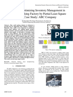Analysis to Optimizing Inventory Management in Dies–Mold Making Factory by Partial Least Square (PLS) Case Study
