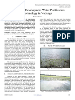 Sustainable Development Water Purification Technology in Vadange