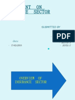 ASSIGNMENT  ON  INSURANCE  SECTOR