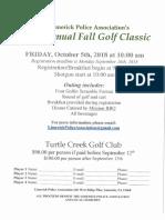 2018 Golf Classic Flyer