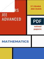 Mathematics JEE Mains and Advanced previous years papers