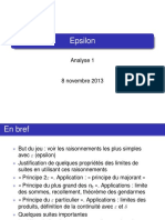 Analyse 1 Epsilon