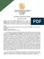 Acta Final Del Juicio Al Acusado Nicolás Maduro