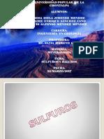 Sulfuros y Aluros Mineralogia