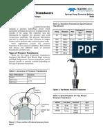 Type of Pressure Sensors