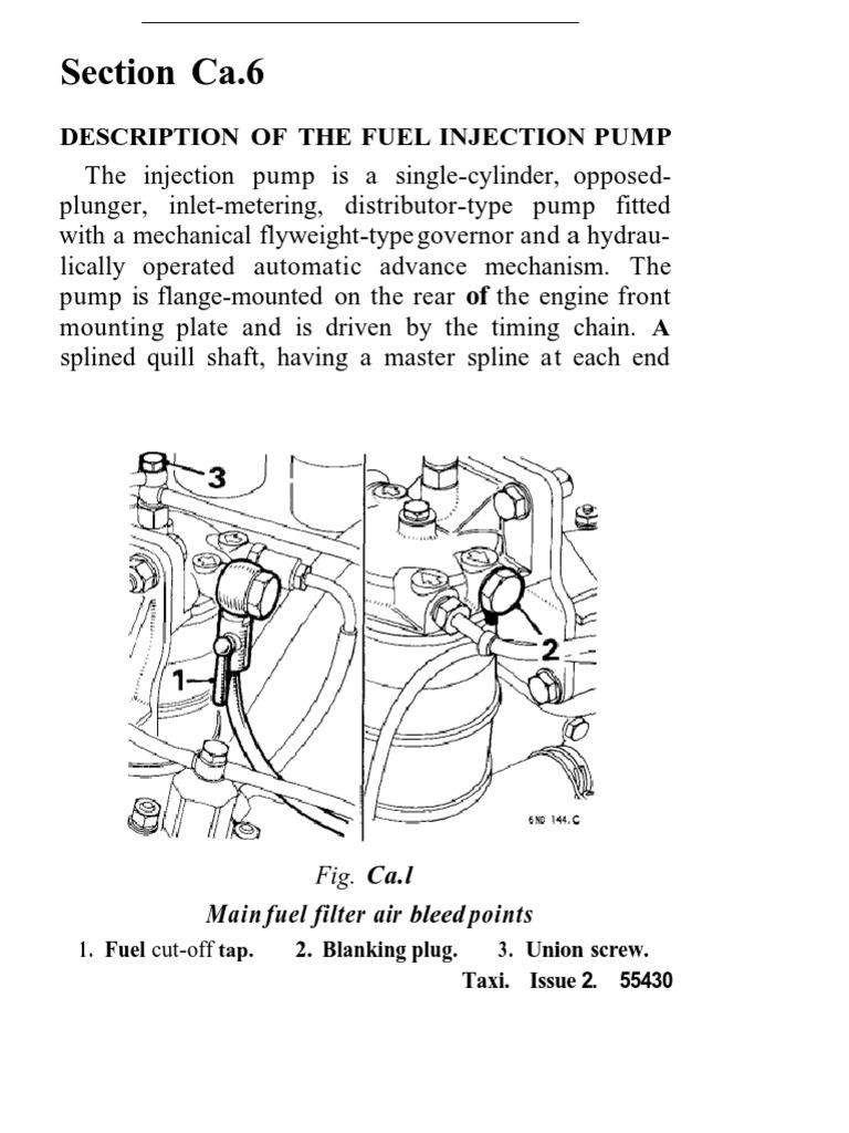 Top gasket reseal Cav Injector Pump MF205 t