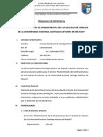 Ejemplo terminos de referencia mantenimiento