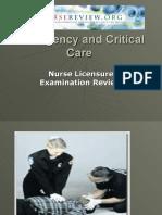 Emergency Nursing Critical Care