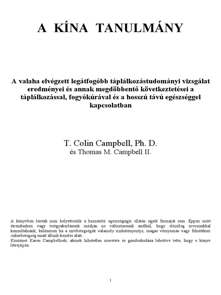 táplálkozási terápia hipertónia könyvek)