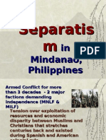 Lecture on Mindanao Separatism