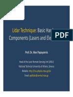 Lidar Hardware Alex Papayannis Basics May 2016