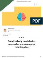Creatividad y hemisferios cerebrales, cómo se relacionan.pdf