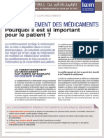 Essentiel-Conditionnement Du Medicament