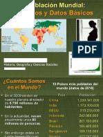 La Población Mundial Datos y Conceptos