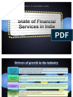 Present State of Financial Services Industry in India