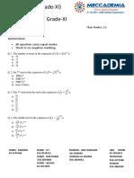 Binomial Theorem MCQ