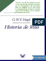 Historia de Jesus - Georg Wilhelm Friedrich Hegel