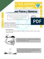 Ficha Fenomenos Fisicos y Quimicos Para Sexto de Primaria (1)