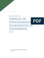 Manual de Procedimientos Quirúrgicos de Enfermería
