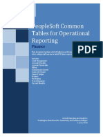 Fin Common Tables for Reporting Psoft