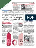 SNI Insiste en Producción de Bolsas Plásticas, Aunque Proponer Impulsar El Reciclaje