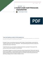 Trump Declares 'Market Would Crash' if Democrats Impeached Him _ Fox News