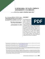 Servidumbre Petrolera Un Vacio Juridico Del Ordenamiento Colombiano