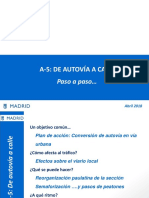A5 de Autovía a Calle (transformación de la carretera de Extremadura, paso a paso)
