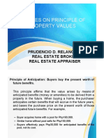 Updates on Principle of Property Values