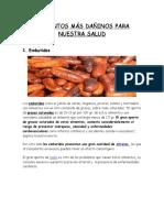 Alimentos Más Dañinos Para Nuestra Salud