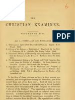 J. W. Chadwick, Tertullian and Montanism