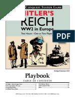 Hitler's Reich GMT Games Playbook
