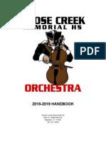 2018-2019 patriot orchestra handbook