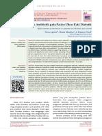 Efektivitas Antibiotik pada Kaki Diabetik