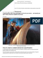 Choosing Coated Abrasives - Canadian Metalworking