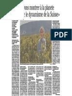 CH Agri Suisse -  Interview Avec Simone de Montmollin Sur Le Congrès OIV 2019 en Suisse