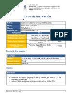 informe de instalación Petramas.pdf