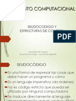 PPT 1.3 Seudocodigo y Estructuras de Control