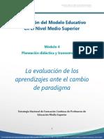 evaluación nuevo modelo educativo