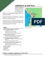 Expediciones Auxiliadoras Al Alto Perú