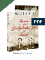 História Das Assembleias de Deus No Brasil - Emílio Conde