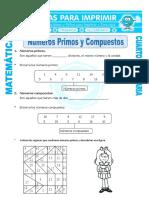 Ficha Numeros Primos y Compuestos Para Cuarto de Primaria (1)