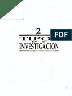 02 Tipos de Investigación