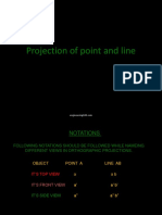 Projection of Point and Lines Engineering108.Com