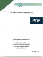 Estudio de mecánica de suelos