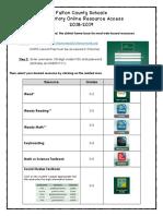 2018-2019 fcs online resource access